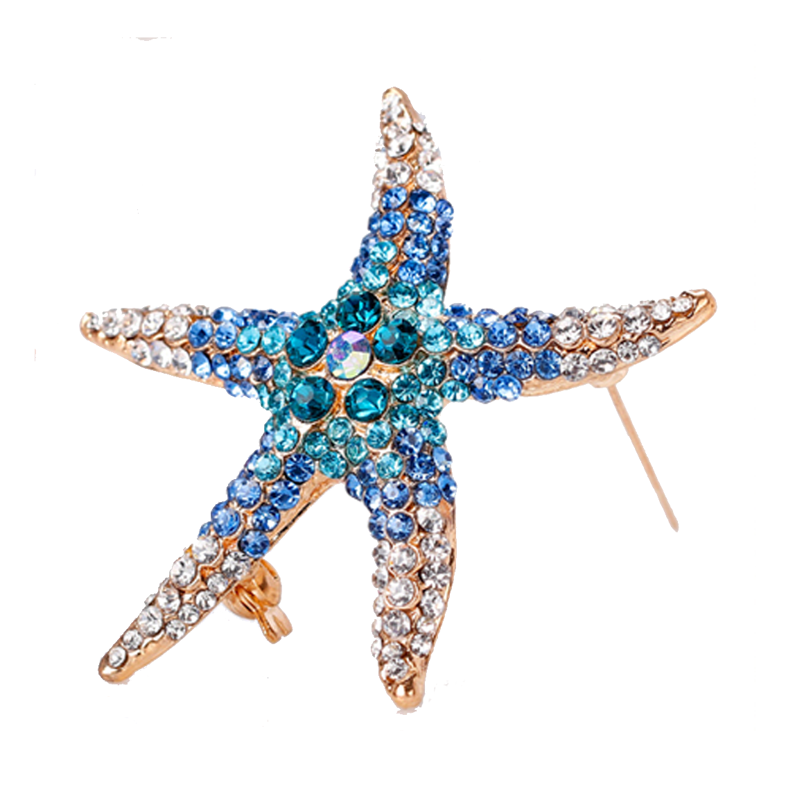 Blue Starfish Brooch