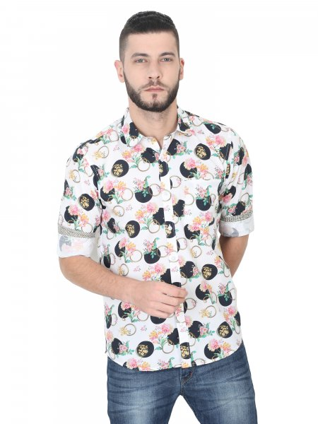 Carter Mens Floral Casual Shirt