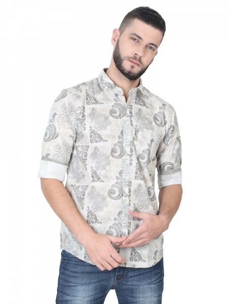 Tobias Mens Printed Casual Shirt