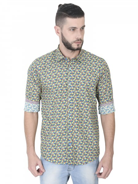 Noah Mens Printed Casual Shirt