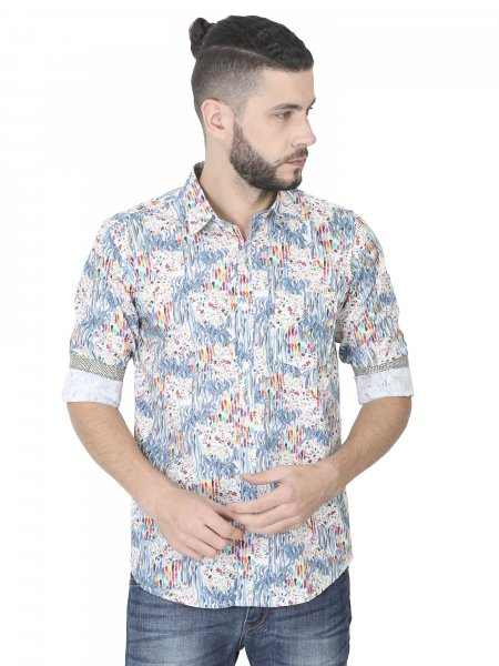 Vangogh Mens Printed Casual Shirt