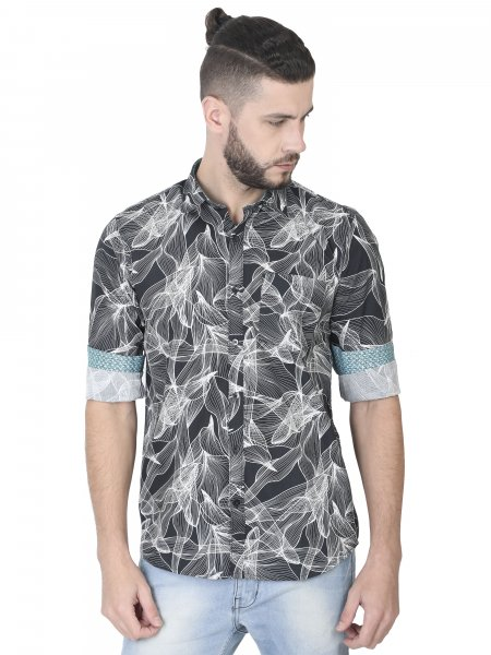 Simon Mens Monochrome Casual Shirt