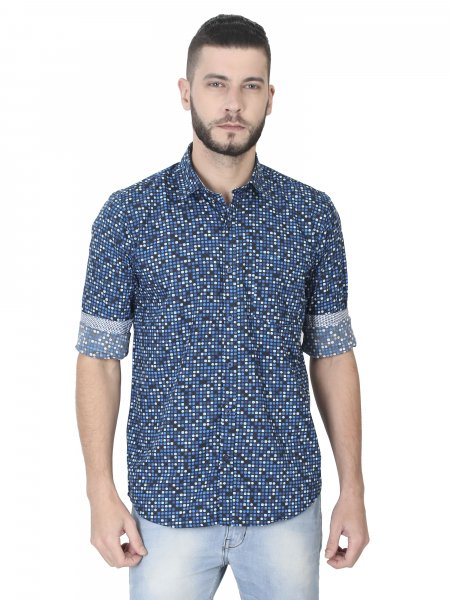 Pac Mens Printed Casual Shirt