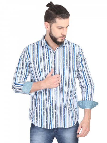 Ethan Mens Stripe Casual Shirt