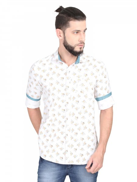 Duncan Mens Printed Casual Shirt