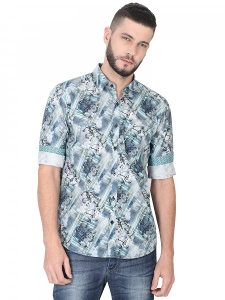 Nico Mens Printed Casual Shirt