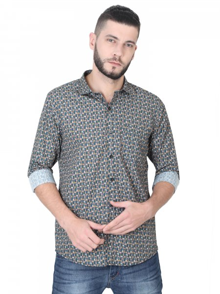 Jack Mens Printed Casual Shirt