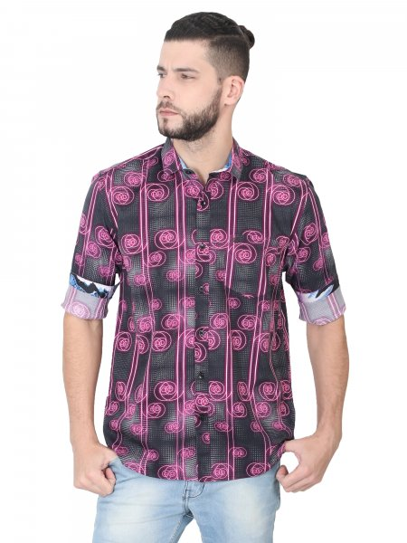 Spiral Mens Printed Casual Shirt
