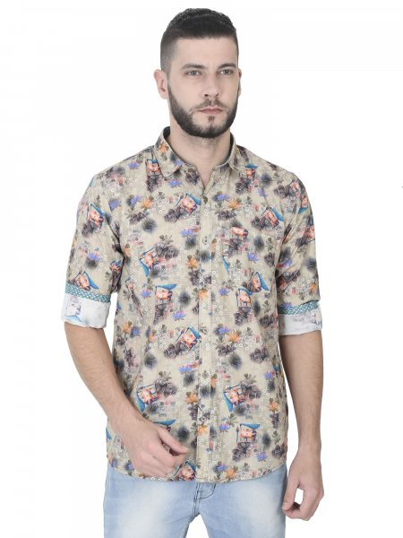 Eric Mens Printed Casual Shirt