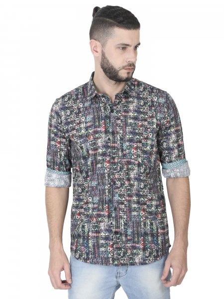 Stephen Mens Printed Casual Shirt