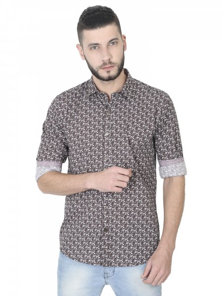 York Mens Printed Casual Shirt