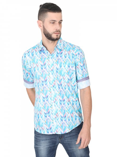 Ikat Mens Printed Casual Shirt