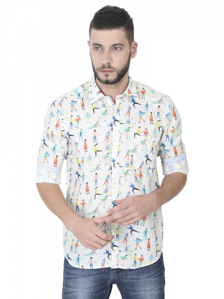 Cooper Mens Printed Casual Shirt