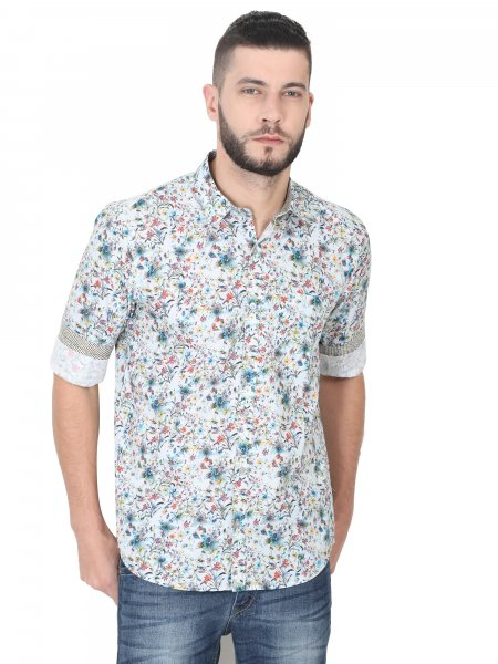 Reuben Mens Floral Casual Shirt