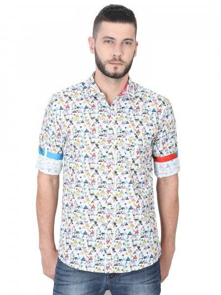 Harvey Mens Printed Casual Shirt