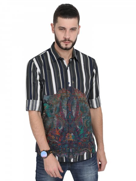 Adam Mens Striper Party Shirt